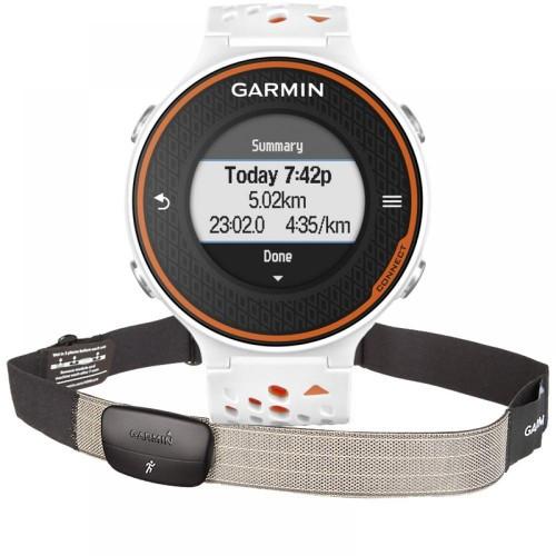 Часы с GPS Garmin Forerunner 620 White/Orange HRM-Run GPS (010-01128-41)
