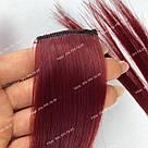 Вишневые пряди волос на заколках цветные, фото 2