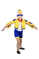 Детский карнавальный маскарадный костюм Попугай мех рост:104-122см