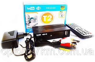 Тюнер DVB-T2 LCD с поддержкой wi-fi адаптера+Megogo S