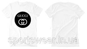 """Футболка Gucci белая с логотипом, унисекс (мужская,женская,детская) """""""" В стиле Gucci """""""""""