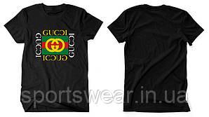 """Футболка Gucci черная с логотипом, унисекс (мужская,женская,детская) """""""" В стиле Gucci """""""""""