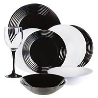 Сервиз столовый Luminarc Harena Black&White 24 предмета N2243