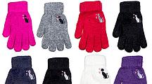 """Перчатки женские трикотажные """"Корона"""" Оптом 12 пар разные цвета"""