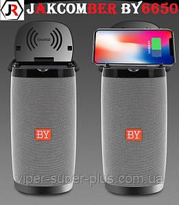 Портативная Блютуз Колонка JAKCOMBER BY-6650 Gray Беспроводная Зарядка FM Повер Банк micro USB SD AUХBluetooth