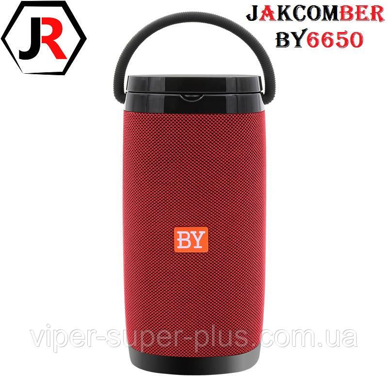 Портативна Блютуз Колонка JAKCOMBER BY-6650 Red Бездротова Зарядка FM Повер Банк micro USB SD AUХBluetooth