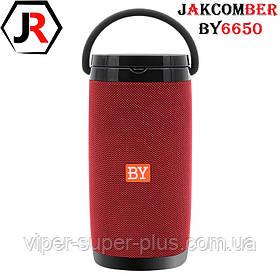 Портативная Блютуз Колонка JAKCOMBER BY-6650 Red Беспроводная Зарядка FM Повер Банк micro USB SD AUХBluetooth