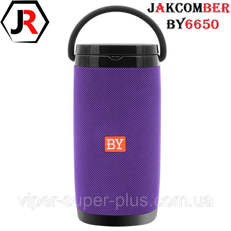Портативна Блютуз Колонка JAKCOMBER BY-6650 Purple Бездротова Зарядка FM Повер Банк micro USB AUХBluetooth