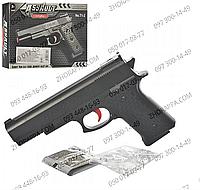 Пистолет Т1-2, длиной 18 см, в комплекте водяные пули, детское оружие, в коробке 19*12,5*3,5 см