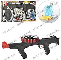 Детский автомат XH092, стреляет пулями-присосками или водяными пульками, длина автомата 58 см
