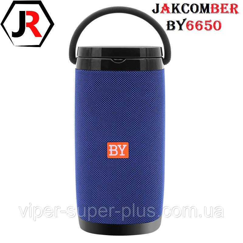 Портативна Блютуз Колонка JAKCOMBER BY-6650 Blue Безпровідна Зарядка FM Повер Банк micro USB AUХBluetooth