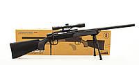 Детская снайперская винтовка Airsoft Gun с пульками и прицелом, автомат ZM51.