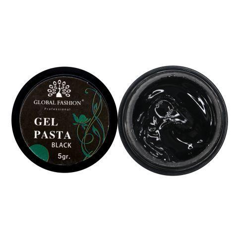 Гель- паста Глобал. 5мл черныя, emboss gel, эмпаста.
