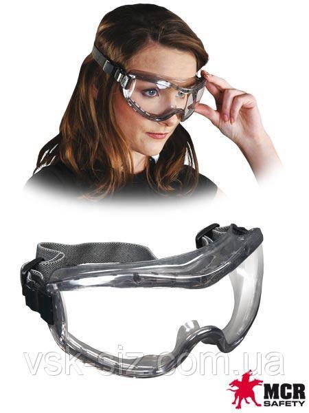Защитные закрытые противоосколочные очки MCR-STRYKER-F