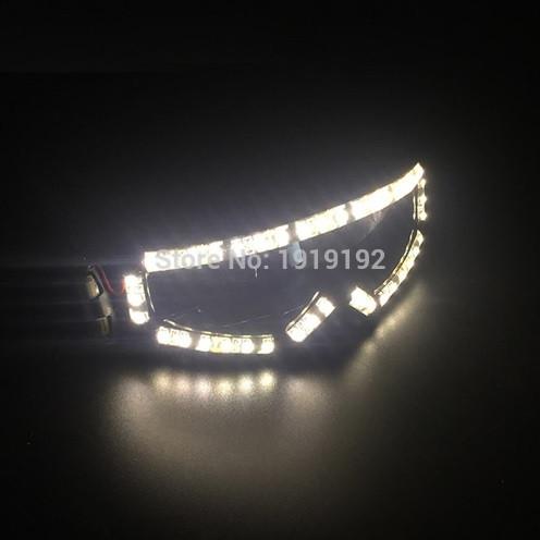Модные светящиеся лыжные очки светодиодные для тусовки вечеринки