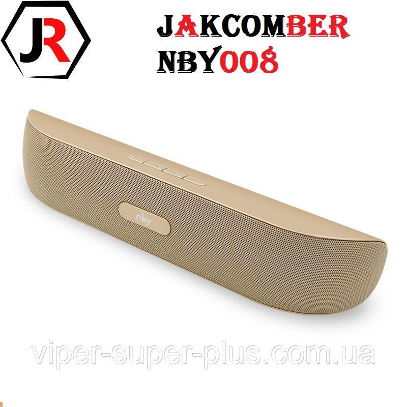 Портативная Блютуз Колонка JAKCOMBER NBY-008 Голд Оригинал FM Повер Банк micro USB SD AUХ Bluetooth