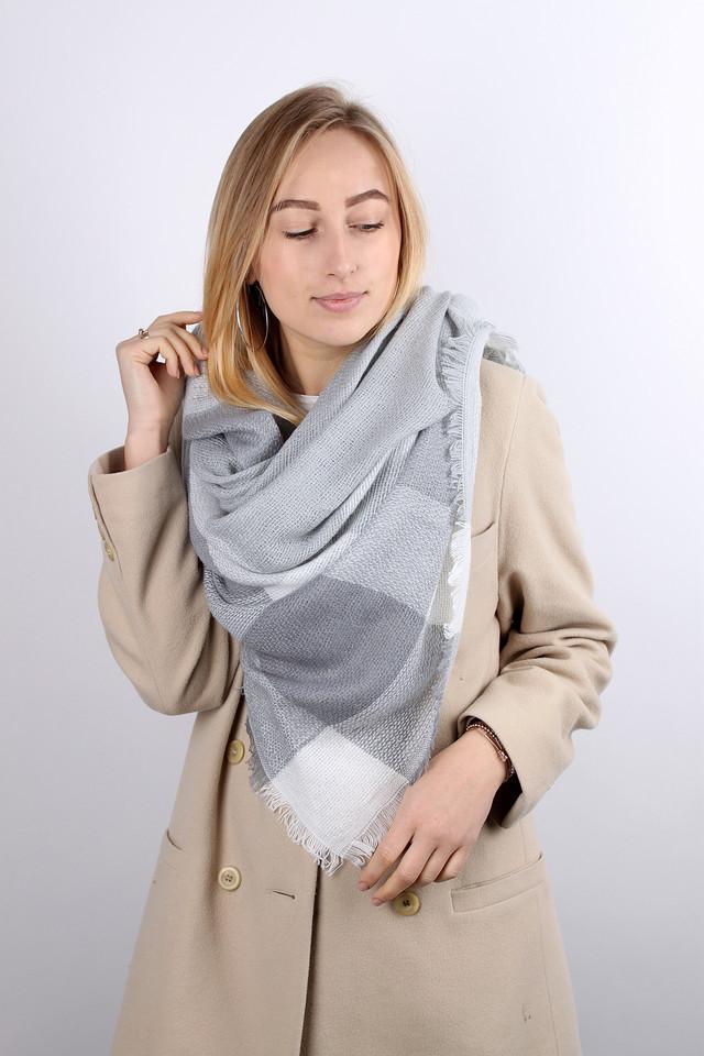 Платок Хейли светло-серый