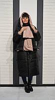 Пуховик с шарфом-капюшоном Alberto Bini 6017