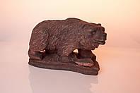Медведь с рыбой на подставке большой, фото 1