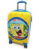 """Детский чемодан дорожный, кодовый замок Губка Боб 20"""" на четырех колесах 520300"""