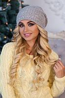 Женская шапка Эджи светло-серая