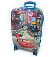 """Детский чемодан дорожный, кодовый замок, Тачки Cars 20"""", четыре колеса 520302"""