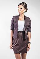 Пиджак женский с подкладкой коричневый(Жакет жіночий коричневий)