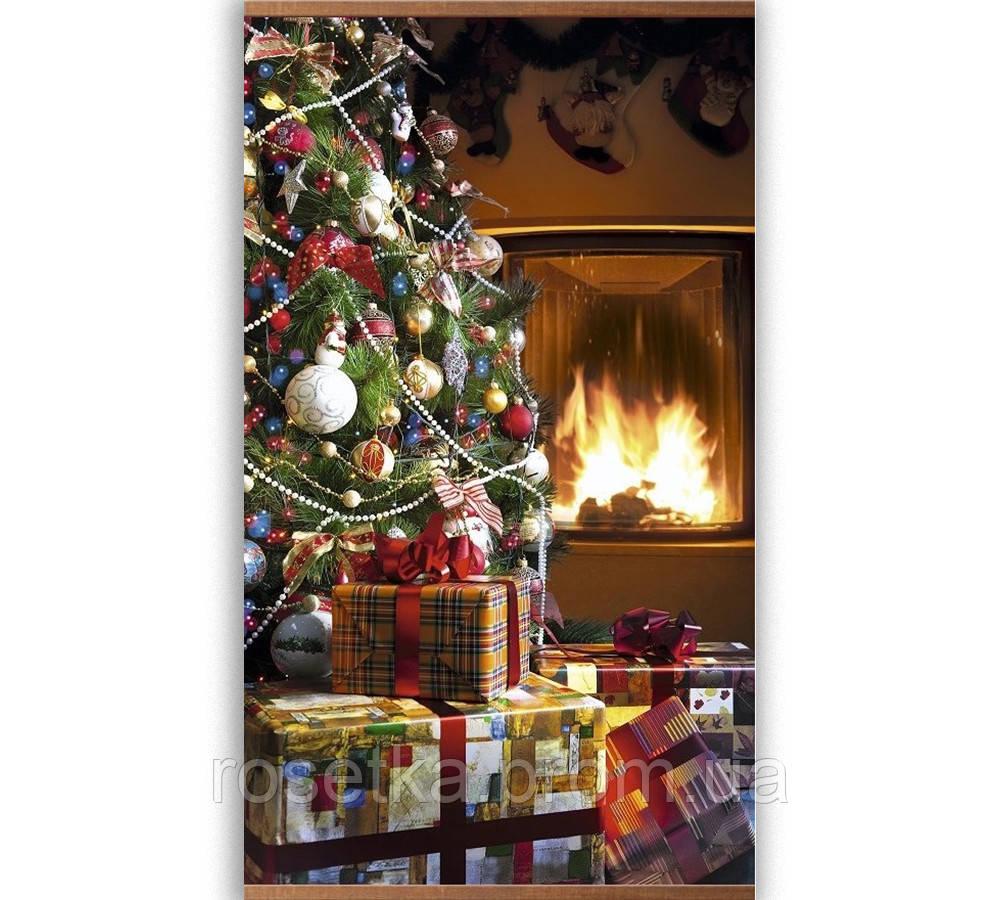 """Карбоновый настенный обогреватель-картина, панно """"Новый год"""""""