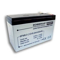 Аккумулятор Bossman 12V 9Ah. AGM. Свинцово-кислотные (SLA), аккумуляторы. Аккумуляторные батареи Bossman