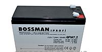 Аккумулятор Bossman Profi 12V 7.2Ah, 6FM7.2, 20HR. Аккумуляторные свинцово-кислотные батареи