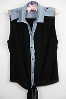 Блуза женская шифоновая,женская блуза  черная шифоновая