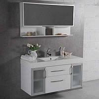 Мебель в ванную 120 см с зеркальным шкафчиком Barbados 2-120 Fancy Marble