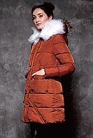 Куртка женская зимняя теплая с мехом