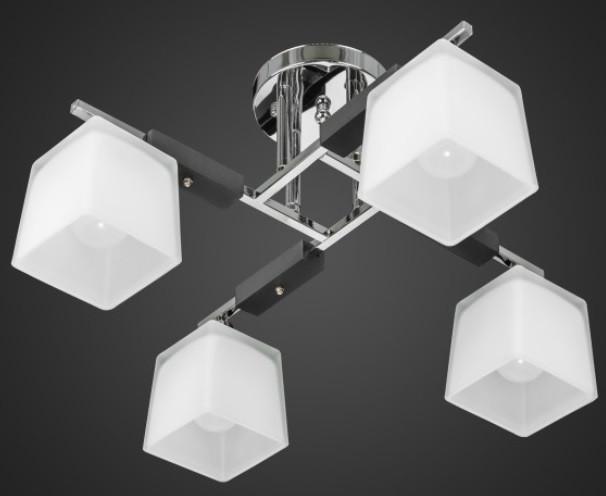 Люстра с квадратными плафонами AR-004474 4 лампы
