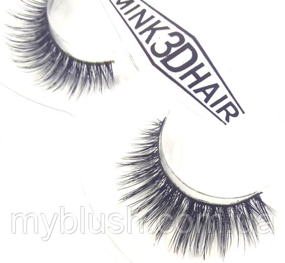 Ресницы накладные Mink 3D Hair (натуральная норка) 1 пара № 001