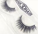 Ресницы накладные Mink 3D Hair (натуральная норка) 1 пара № 001, фото 3