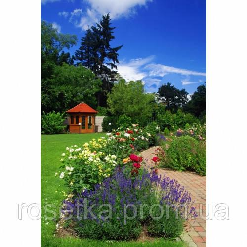 """Обігрівач-картина плівковий на стіну """"Лаванда, квіти, сад"""", карбоновий обігрівач-панно"""