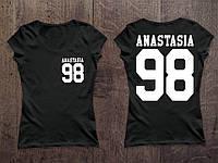Женская именная футболка ( Все ЦВЕТА ) №34