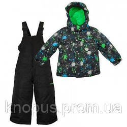 Зимний детский термокомплект X-Trem by Gusti, серо-зеленый, размеры 92, 98, 122