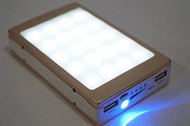 Зарядное устройство на солнечной батарее Powerbank 50000 mah 9186, Led панель, индикатор зарядки.