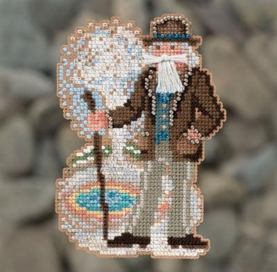 Набор для вышивки крестиком и бисером Yellowstone Santa (2018)
