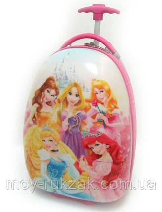 Детский чемодан на колесах Принцессы Princess, фото 2