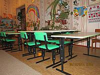 Столы, стулья для детского сада регулируемые