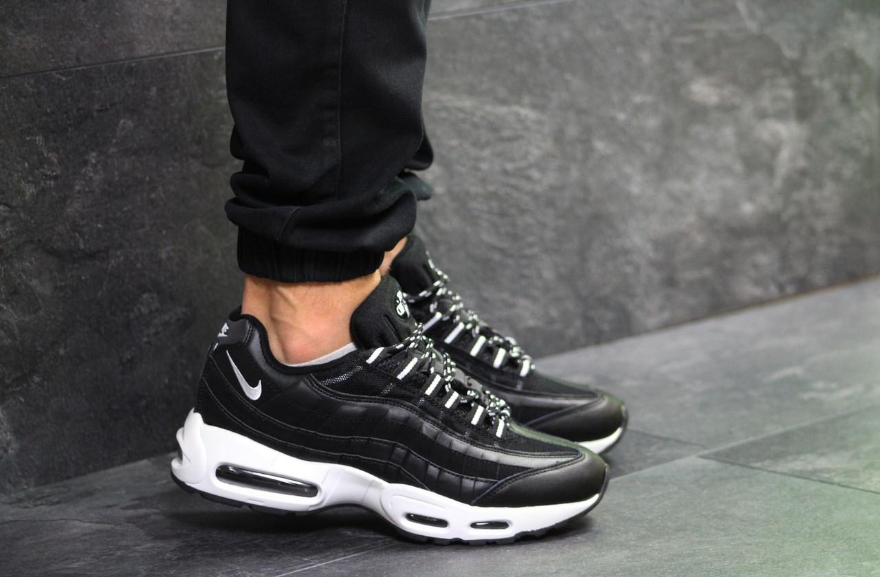 08032f19 Мужские Кроссовки Nike Air Max 95 Black/White — в Категории ...