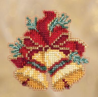 Набор для вышивки крестиком и бисером Christmas Bells Mill Hill