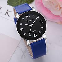 Женские наручные часы Lvpai 80613-1 | Черные с синим ремешком