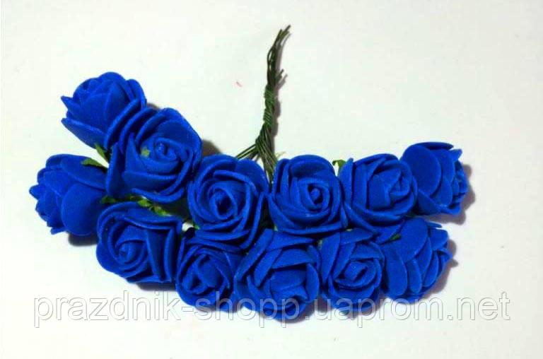 Розочка латексная, синяя.