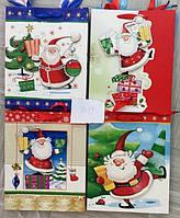 Пакет подарочный 27311 Новогодний 26х32х10см картон 4вида уп12