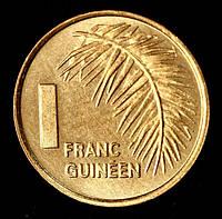 Монета Гвинеи 1 гвинейский франк 1985 г.