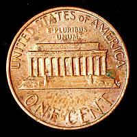 Монета США 1 цент 1980 г.